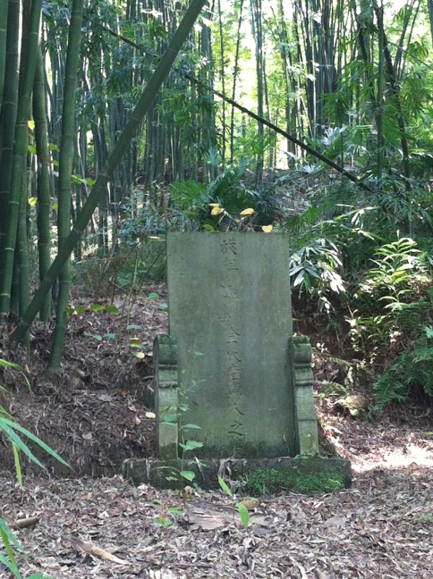 A quiet grave in a bamboo grove. Whenever possible, ancestors are buried near living relatives' homes.